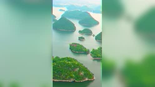 发现一湖中竟有小岛100多个,岛上竟有别墅,世外桃源