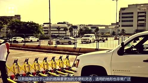 新型路障即将上市,汽车装上立马爆炸,十几吨的大货车也过不去!