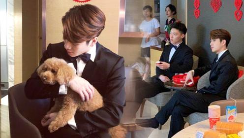 王嘉尔参加好友婚礼,穿西装打领结当伴郎帅气有型