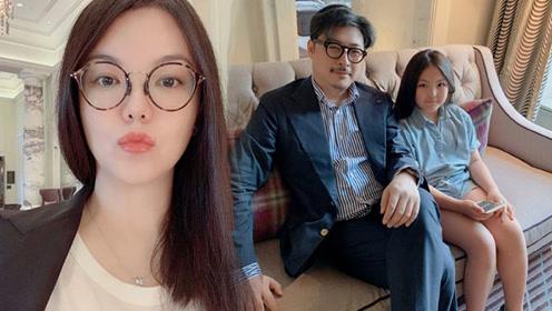 李湘晒老公女儿合照,王岳伦显沧桑,王诗龄胖嘟嘟和爸爸越来越像