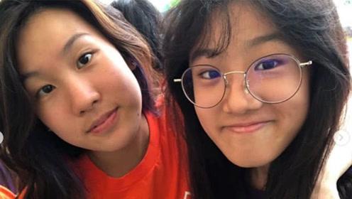 14岁梧桐妹分享近照,与闺蜜同框笑得开心,长得越来越像贾静雯