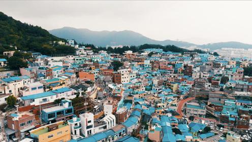 这里以前是避难所,现在成了韩版圣托里尼  跳着看世界vlog