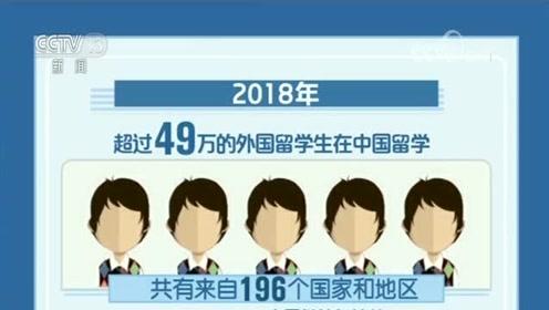 """教育部:2018年来华留学生超49万 """"留学中国""""成品牌"""