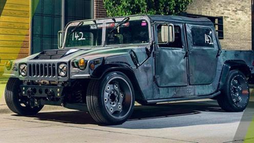 外国公司改装悍马H1,800匹马力性能强悍,网友:颜值太帅!