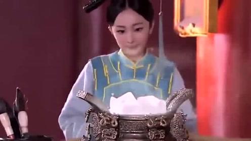 《宫锁心玉》皇上觉得太热,晴川想出个办法,不愧是来自现代!