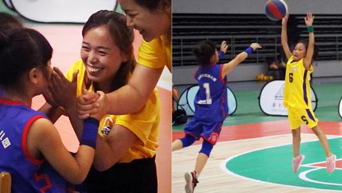 6岁娃带篮球队上演逆袭战,上半场落后哭鼻子,擦干泪狂飙3分球