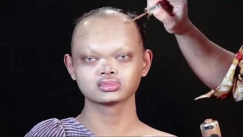 女孩嫌自己太丑,请百万级化妆师给自己化妆,结果傻眼了!