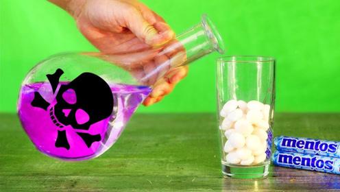 浓硫酸终于遇到对手了,将曼妥思放入硫酸中,结果令人傻眼!