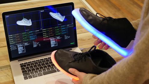 这成人版发光鞋,比儿童版的高级多了,处处都是高科技