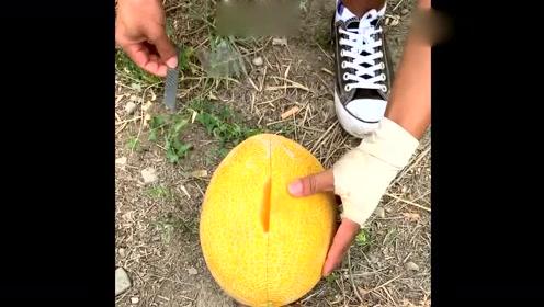 不愧是新疆的哈密瓜,切开的那一刻,馋得我想来一口!