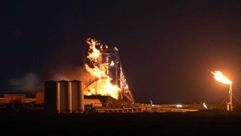 钢铁侠马斯克的不锈钢火箭又双叒叕悲剧了,一把火烧成残骸