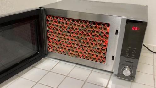 把1000根鞭炮放进微波炉会怎样?最后被这质量折服了