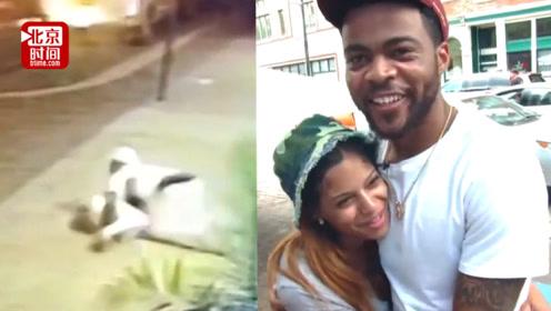 真爱!美国枪击案发时 女友摔倒后男友直接趴到她身上做肉盾