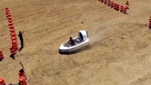 老外模拟实验,驾驶气垫船能安全通过雷区吗?这不科学!