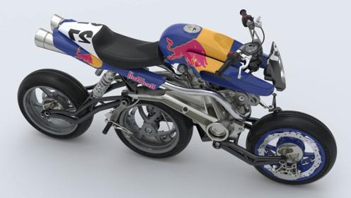 3辆难得一见的三轮摩托车,第三个售价150万,装备法拉利引擎