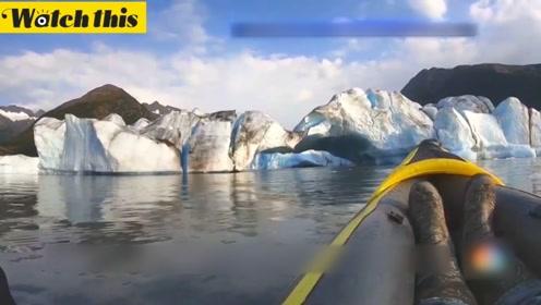 皮划艇手阿拉斯加探险 意外拍摄到冰山崩塌瞬间