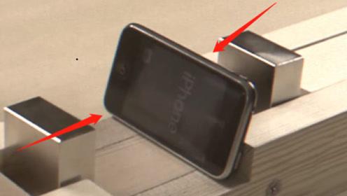 """铷磁铁有多强?小哥作死放进""""苹果手机""""!慢镜头回放太震撼了!"""