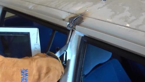 老外亲自测试,用1000度的剑劈开汽车,结果让人目瞪口呆!
