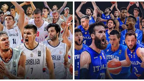 意大利VS塞尔维亚热身赛集锦 粗中有细约基奇篮下人缝妙传博班