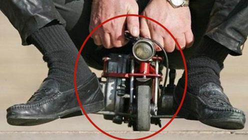 世界上体积最小的摩托车,仅重2公斤,骑起来速度快到惊人