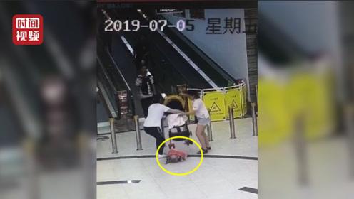 谁之过?超市员工帮抬婴儿车孩子滑落摔骨折 家长向超市索赔