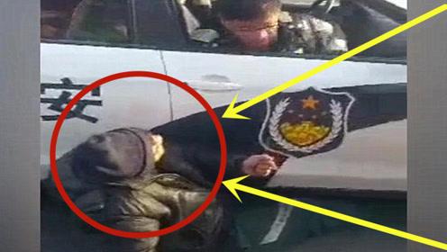 笑出腹肌!世上最蠢的一次碰瓷,看警察叔叔笑得多开心!