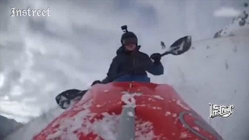 冰天雪地里也能感受一下漂流的刺激体验,真的会玩啊