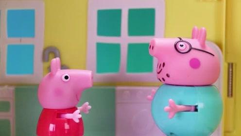 小猪佩奇很好奇 在超市应该怎样排队才能最快结账呢 玩具故事
