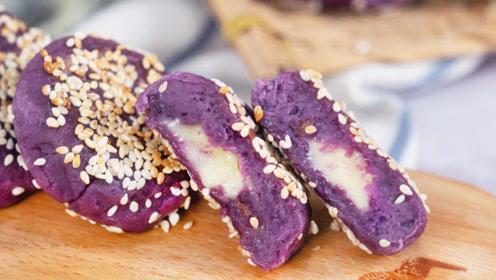 紫薯新吃法,撕开的那一刻,流口水了!
