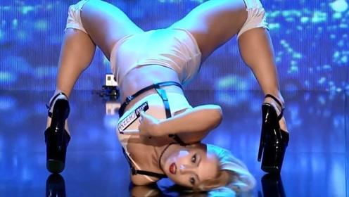 中国女孩上达人秀,当她趴下那一瞬间,震撼才刚刚开始!