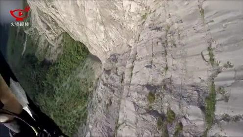 男子跳伞出意外,千米高空坠落奇迹生还,运动相机记录惊险全程