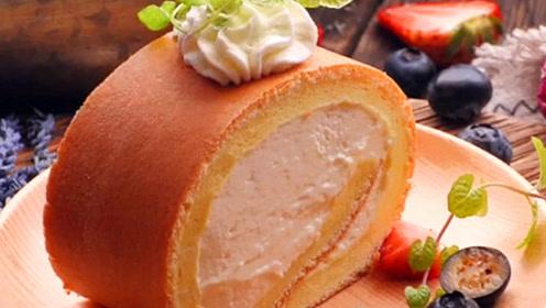 教你在家自制奶油蛋糕卷,简单美味,再也不用给孩子买蛋糕了!