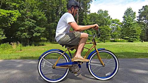 世界上最难操控的自行车,骑出10米可获200美元,这也太难了