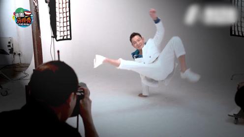 58岁刘德华拍大片,单手撑地跳街舞,活力四射不服老