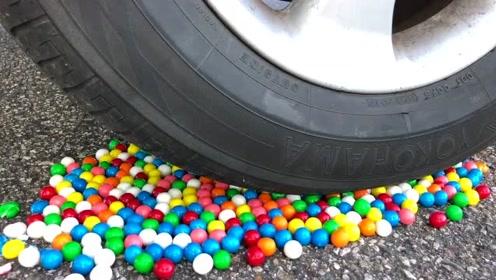 汽车实验-汽车VS口香糖