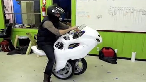 小伙发明可变形摩托,独轮两轮随意切换,一起来见识下