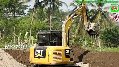 迷你挖掘机的猫307E
