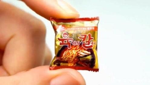 世界上最小泡面,一袋仅有拇指大小,我一口气能吃100包!