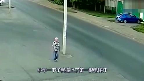老大爷走在回家的路上,忽然发现不对,下一秒悲剧发生