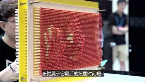 用火柴代替塑料的3D针雕,玩起来太有趣了!
