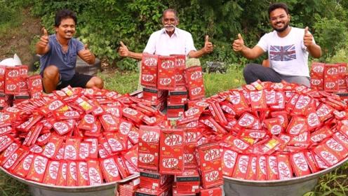 印度农村厨师制作奶昔,完工那一刻,才知道为啥变成网红!