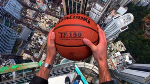 180米高空投篮能投中吗?牛人亲自挑战,是运气还是实力?