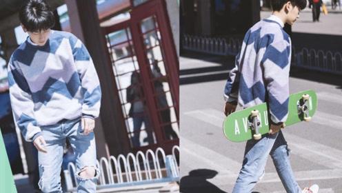 姑苏四千家规管不住的蓝景仪,玩起滑板不输蓝二正经起来可真帅