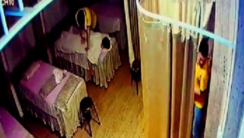 女大学生遭技师性侵45分钟 一帘之隔的男友却没发觉