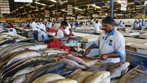 迪拜土豪每天都吃什么?看看迪拜的菜市场,没有对比就没有伤害