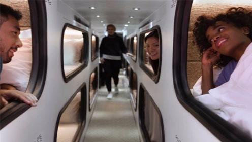 全美第一座移动旅馆,不但能上高速,还有24小时服务生服务