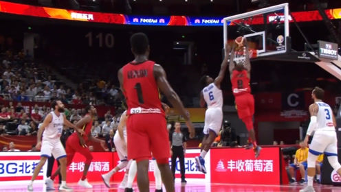 篮球世界杯安哥拉十佳球 保罗双手摁筐暴力扣篮莫雷斯拉杆高打板