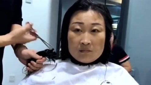 朴素大姐的发型这样剪,剪完后看起来超级时尚,简直换了个人!