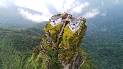 """中国真实存在的""""天空之城"""",建于万丈深渊上,老外直呼不可思议"""