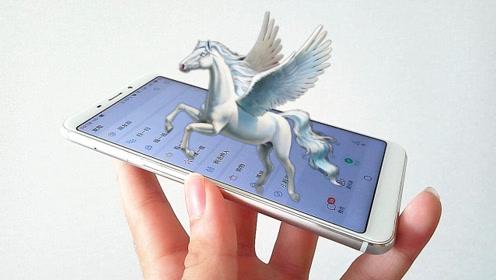 在手机锁屏里设置一只独角兽,打开手机,它就越出屏幕